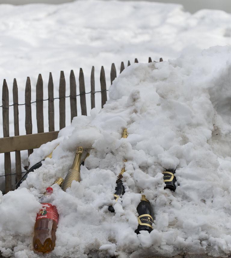 Dranken makkelijk koel bewaren voor de après-ski