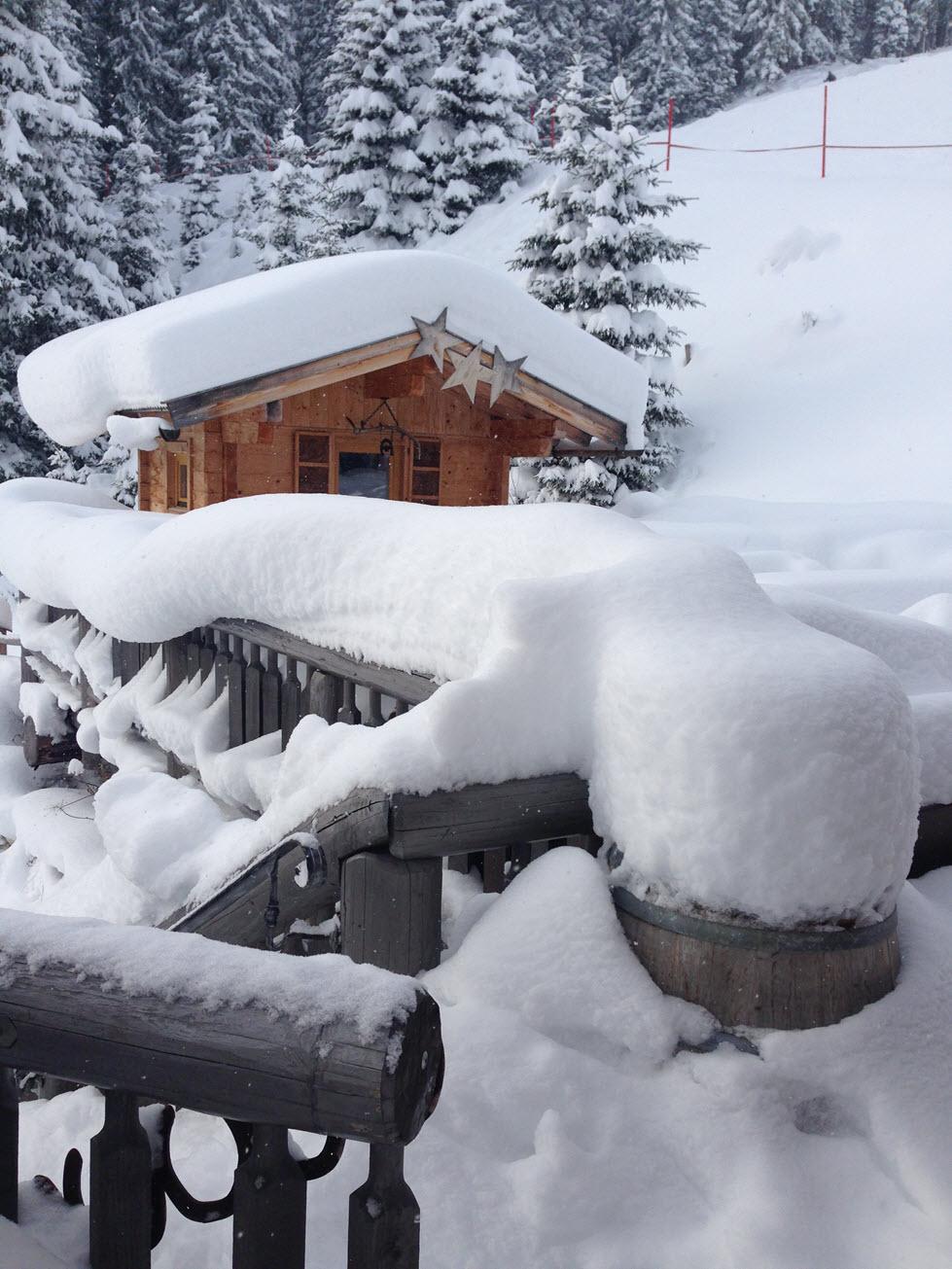 Verse sneeuw in Saalbach